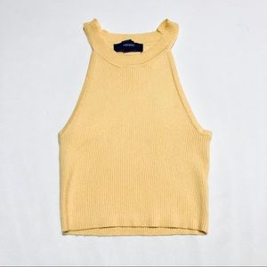 Forever 21 yellow crop top S